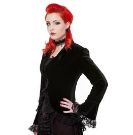 Gothic Women Victorian Velvet Lace Corset Black Gothic Steampunk Jacket