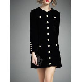 Women Gothic Black Military Style Jacket