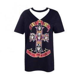 Punk Fashion Women Short Sleeve Cotton Casual Summer Street T Shirt