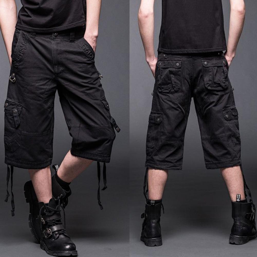 black cargo shorts for men