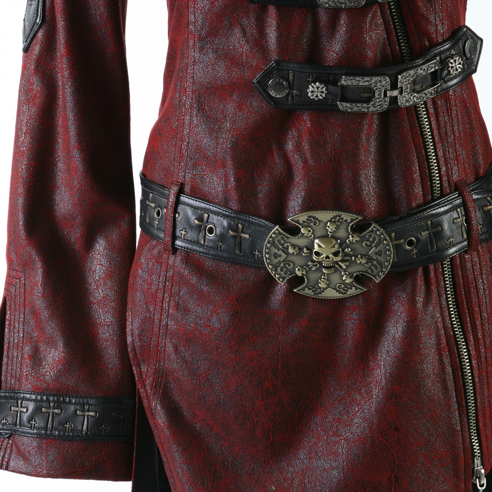 rebelsmarket_ladies_black_long_pleather_coat_steampunk_buckle_punk_rave_jacket_6_ship_coats_5.jpg