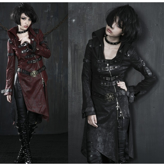 rebelsmarket_ladies_black_long_pleather_coat_steampunk_buckle_punk_rave_jacket_6_ship_coats_9.jpg