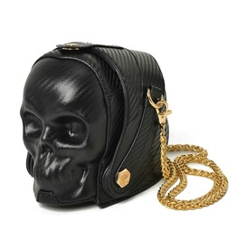 Gothic Skull Punk Rock Leather Women Shoulder Clutch Bag