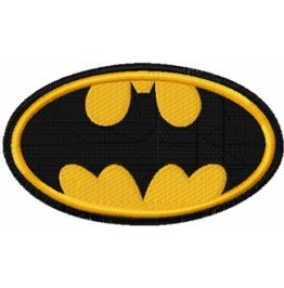 Embroidered Batman Patch Badge Iron / Sew On Batman Super Hero Logo 3 Sizes