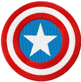 Embroidered Captian America Patch Badge Iron/Sew On Super Hero Logo 3 Sizes