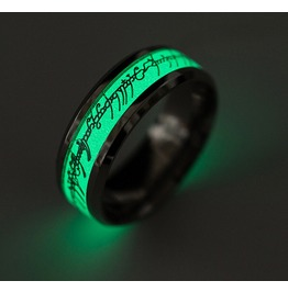 Lord Of Ring Glow In The Dark Ring Silver Gold Engravings Unisex