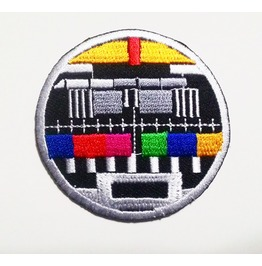 Classic Multi Color Tv Test Embroidered Iron On Patch.