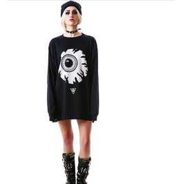 Hipster Punk Eye Print Unisex Fashion Oversized Sweatshirts Pullovers