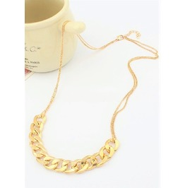 Elegant Cuban Hip Hop Thick Chunky Gold Plated Long Chain Link Necklace