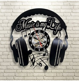 12'' Music Vinyl Wall Clock Art Gift Room Modern Home Record Vintage