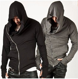Hood Men Hoodies Rock Hip Hop Zipper Sweatshirt Men's Men