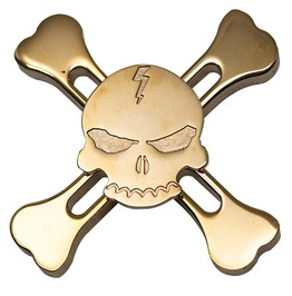 Stress Reliever Gear Skull Head Metal Fidget Spinner For Kids Men Women