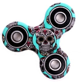 Sugar Skull Stress Reliever Toy Plastic Fidget Spinner