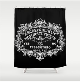 Gothic Ouija Board Shower Curtain