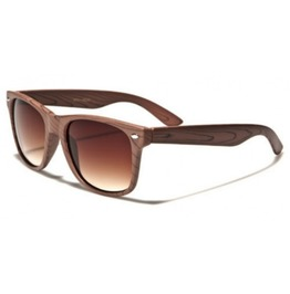 Woody Retro Amber Lens Sunglasses (Natural Series)