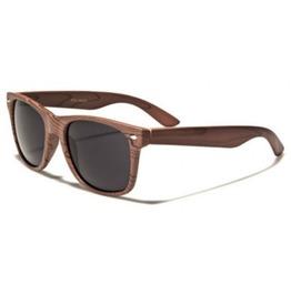 Woody Retro Smoke Lens Sunglasses (Natural Series)