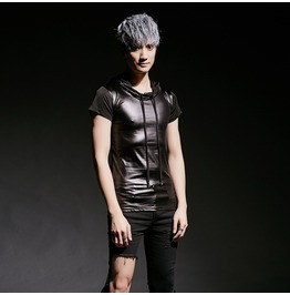 Fashion Hot Men's Tight Casual Clothing Short Sleeve Hooded T Shirt