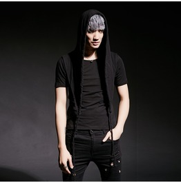 Casual Slim Fit Hoodie Men's Short Sleeve T Shirt