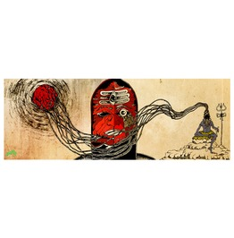 Rebelsmarket indian fury god rudra 42x15 inches canvas poster psychedelic art print artprints 2