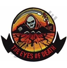 The Eyes Of Death Grim Reaper Sew On Patch