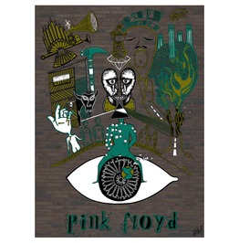 Pink Floyd 24'x17.6' Art Print Rock N Roll Music Poster