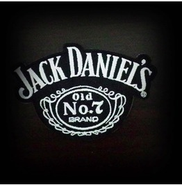Jack Daniel's Whiskey Embroidered Iron On Patch.