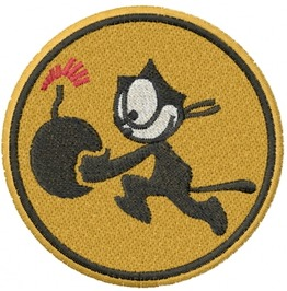 Embroidered U.S. Military Vfa 31 Patch Iron/Sew On Army Patch Felix The Cat