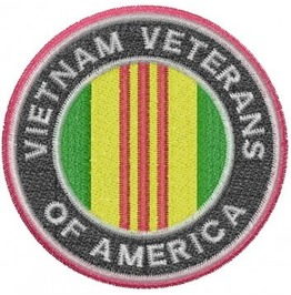 Embroidered Vietnam Veterans Of America Patch Iron/Sew On Military Army