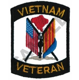 Embroidered Vietnam Veterans Flag Patch Iron/Sew On Patch