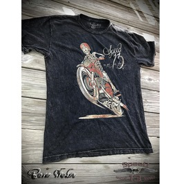 Bone Shaker, Men's Unisex T Shirt, Custom Dyed Black