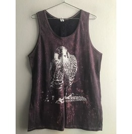 Bird Animal Stone Wash Vest Tank Top M