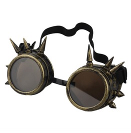 Steampunk Brass Like Spiky Mad Max Goggles