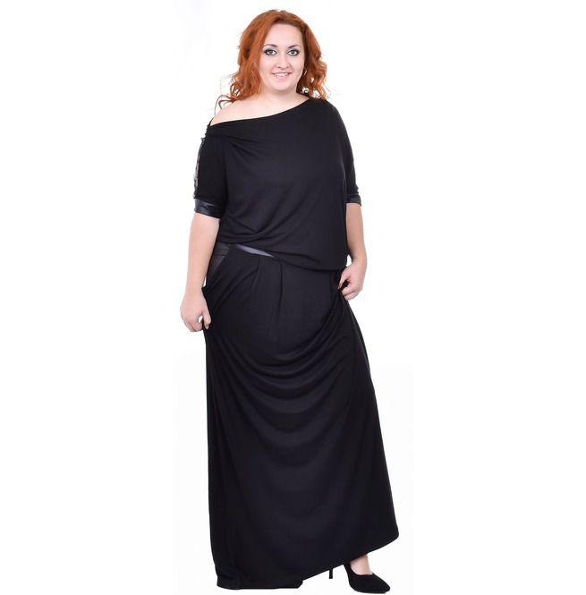 Black Lace Dress, Bat Sleeves Dress, Midi Dress, Loose Dress, Plus Size