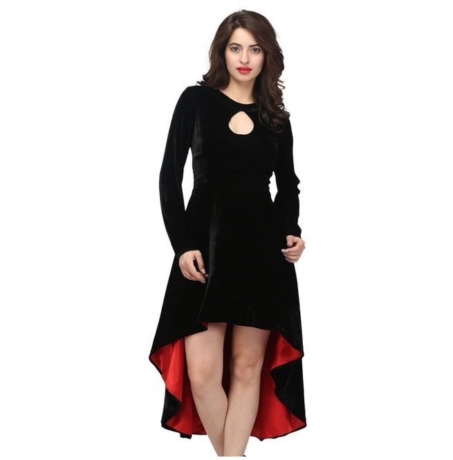 1e39ebce6b8 Fabiola Black   Red Gothic Ladies Dress