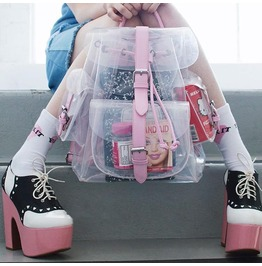 Transparent Backpack / Mochila Transparente Wh348