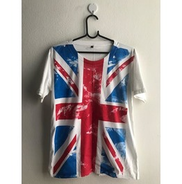 Uk British Union Jack Flag Punk Pop Rock Unisex Shirt S