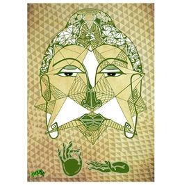 "Sacred Geometry Buddha 24""X18.5"" Art Print"
