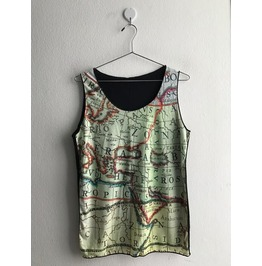 Sale!! Map Fashion Pop Rock Indie Vest Tank Top