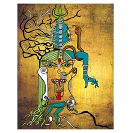"""Kali Dance Of Destruction,Indian Goddess 25""""X17"""" Art Print"""