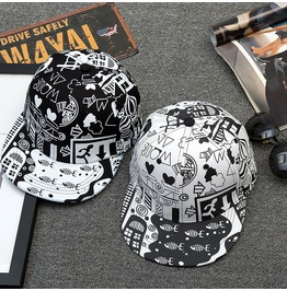 Hip Hop Street Graffiti Casual Caps,Dancer Party Sun Hats