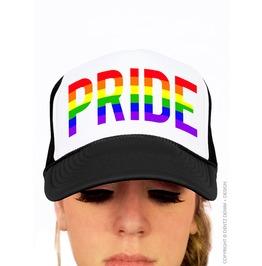 Gay Pride Hat, Rainbow Pride Cap, Baseball One Size Unisex Trucker Hat