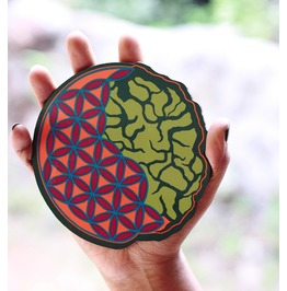 Seed Of Life Art Magnet Brain Pin Magnet