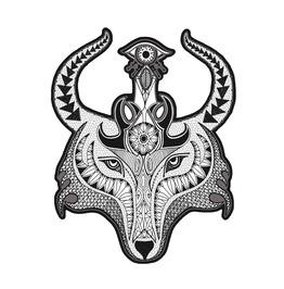 Spirit Animal Wolf Fridge Magnet Kitchen Art Decor Pin