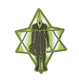 All Seeing Eye Magnet Merkaba Third Eye Pin Magnet