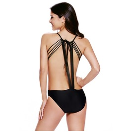 Women's Sexy Strappy Backless Swimsuit One Piece Swimsuit