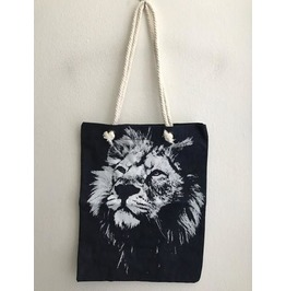 Wolf Wild Animal Beach Canvas Jean Tote Bag
