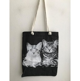 Cat Cutie Animal Beach Canvas Jean Tote Bag