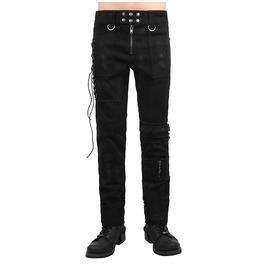 Punk Rave Men's Front Zipper Punk Casual Pants Black K225