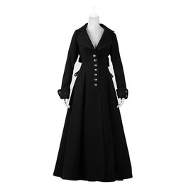 Punk Rave Women's Steampunk Single Breasted Maxi Coat Ly043