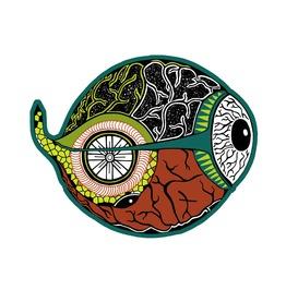 Eyeball Fridge Magnet Lsd Visionary Art Magnet